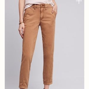 Anthropologie chinos in camel color